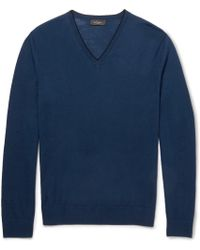 Paul Smith Fine-knit Merino Wool Sweater - Lyst