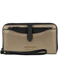 Kenneth Cole Reaction - Right Angles Leather Colorblock Wristlet - Lyst