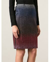 Marco De Vincenzo Embellished Stripe Skirt - Lyst