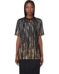 Givenchy Black Sequin Print T_shirt - Lyst