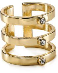 Aqua - Rissa Triple Row Ring - Lyst