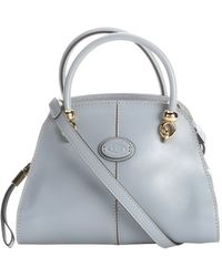 Tod's Light Blue Leather Convertible Mini Satchel - Lyst