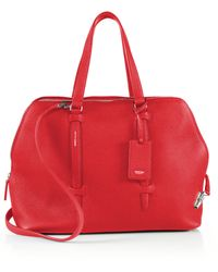 Agnona - Cara Grained Leather Satchel - Lyst