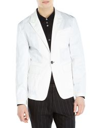 Ann Demeulemeester White One-Button Blazer - Lyst