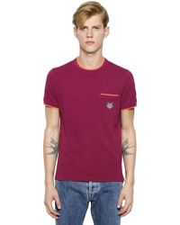 Kenzo Tiger Embroidered Cotton Piqué T-shirt - Lyst