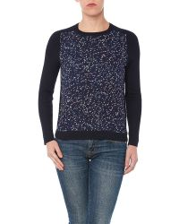 YAL New York - Long Sleeve Printed Front Sweater - Lyst