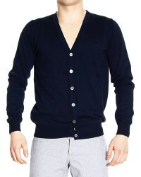 Fred Perry Sweater Garment Dyed Basic Cardigan - Lyst