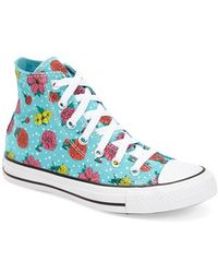 Converse Chuck Taylor All Star Floral Polka Dot High Top Sneaker - Lyst