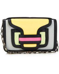 Pierre Hardy Color-Blocked Leather Shoulder Bag - Lyst