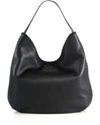 Tory Burch | Marion Whipstitched Leather Hobo Bag | Lyst