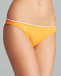 Ralph Lauren - Blue Label Summer Classics Piped Waist Hipster Bikini Bottom - Lyst