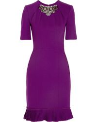 Matthew Williamson Winter Embellished Stretchwool Crepe Dress - Lyst