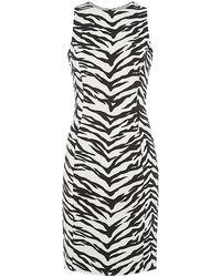 Moschino Cheap & Chic Zebra Print Sheath Dress - Lyst