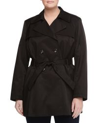 Via Spiga Scarpa Double-Breasted Trench Coat, Black - Lyst