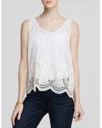 Joie Tank - Lille Embroidered - Lyst