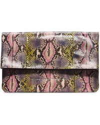 Michael Kors Janey Hand-Painted Python Clutch - Lyst