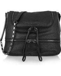 Karl Black Textured Leather Shoulder Bag 8