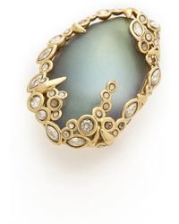 Alexis Bittar Crystal Lace Cocktail Ring Labradorite - Lyst
