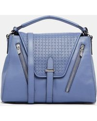 French connection Leather Tote Bag - Lyst