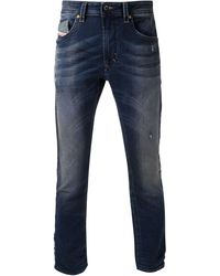 Diesel Blue Straight Jeans - Lyst