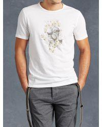 John Varvatos   Floral Skull Graphic Tee   Lyst