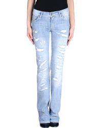 Versus  Denim Trousers blue - Lyst