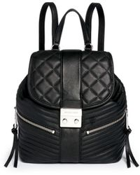 Michael Kors | 'elisa' Rhodium Buckle Quilted Leather Backpack | Lyst