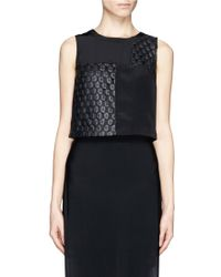 Elizabeth And James Vinique Cropped Tank Top - Lyst