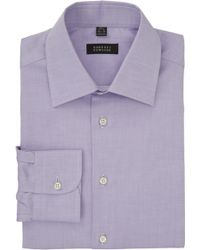 Barneys New York Micro Diamondpattern Dress Shirt - Lyst