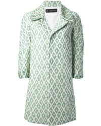 DSquared2 Green Embellished Coat - Lyst