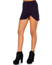Missguided Corinne Value Crossover Split Mini Skirt In Purple - Lyst