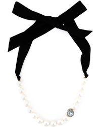 Lanvin Pearl Choker Necklace - Lyst