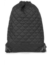 Topshop Quilted Drawstring Backpack - Lyst