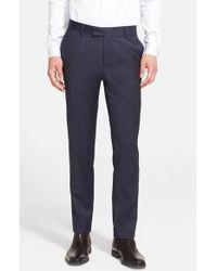 The Kooples Navy Wool Trousers - Lyst