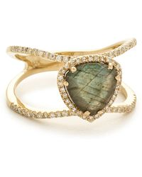 Luna Skye - Petite Triangle Double Band Ring - Lyst