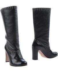 Prada Black Ankle Boots - Lyst