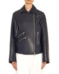 Thomas Tait - Oversized Leather Biker Jacket - Lyst