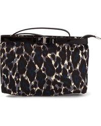 Ferragamo Leopard Print Makeup Bag - Lyst