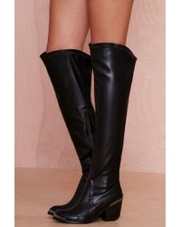 Nasty Gal Jeffrey Campbell Halen Leather Knee-High Boot - Lyst