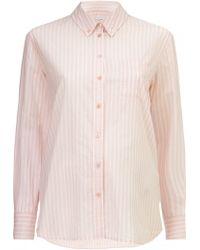 Equipment Striped Button Down Cotton Shirt - Lyst