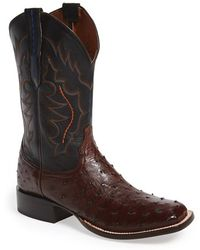 Lucchese | 'hogan' Ostrich Leather Western Boot | Lyst