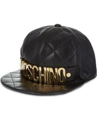Moschino Quilted Logo Cap Black - Lyst