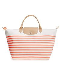 Longchamp 'Medium Mariniere' Tote - Coral pink - Lyst
