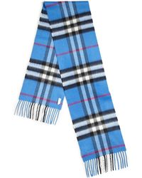 Burberry Kids Cashmere Check Scarf - Lyst