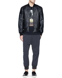 Neil Barrett Quilted Prism Leather Bomber Jacket - Lyst