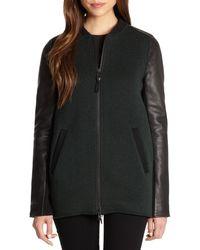 Mackage Wool Knit  Leather Jacket - Lyst