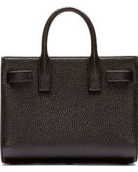 Saint Laurent Black Leather Sac Du Jour Baby Bag - Lyst