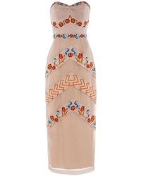 Temperley London Strapless Fitted Valencia Dress - Lyst