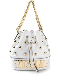 Moschino Studded Bucket Tote - Lyst