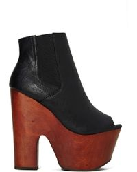 Nasty Gal Shoe Cult Power Trip Platform Bootie - Lyst